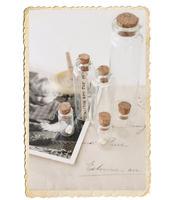 Miniatyr glasflaska med kork, finns i 3 olika storlekar