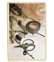 Rulle floratejp, brun