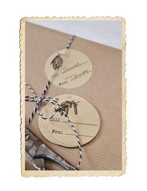 Set med självhäftande juladress etiketter