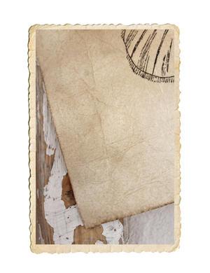 Fjärilsbild tryckt på handgjort naturpapper