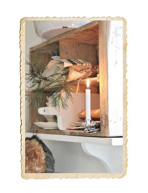 Julgransljus hållare i gammaldags modell, silver