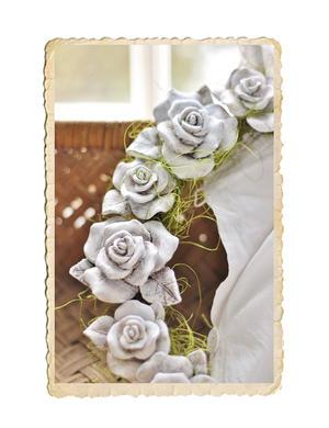 Vacker ros med tråd