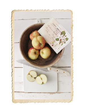 Kort med äppelmotiv