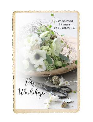 Workshop, Pensékrans, 12 mars