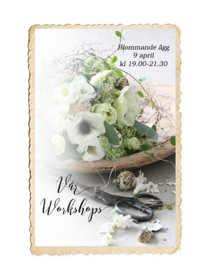 Workshop, Blommande ägg, 9 april