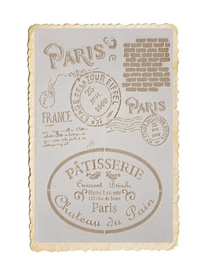 Schablon, Paris och pâtisserie motiv